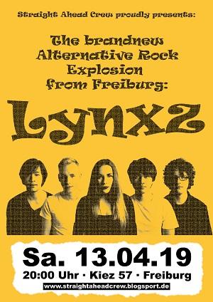 Lynxz - Plakat - 13.04.2019, Freiburg im Breisgau, Kiez 57
