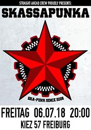 Plakat: Skassapunka, 06.07.2018, Freiburg im Breisgau, Kiez 57