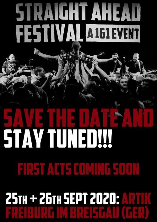 Straight Ahead Festival. A 161 Event. 2020. Ankündigung 2 komprimiert