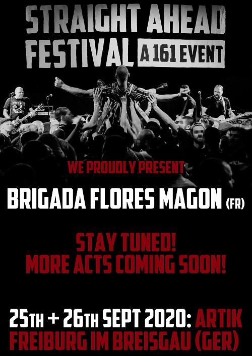 Straight Ahead Festival. A 161 Event. 2020. Ankündigung 3 komprimiert