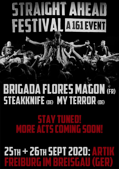 Straight Ahead Festival. A 161 Event. 2020. Ankündigung 5 komprimiert