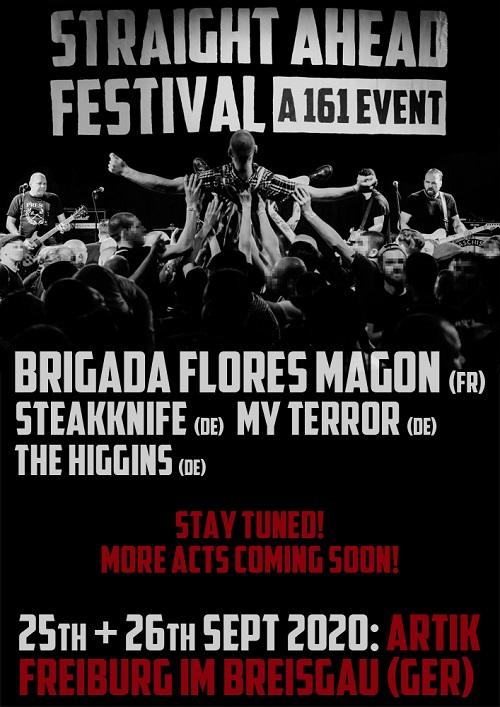 Straight Ahead Festival. A 161 Event. 2020. Ankündigung 6 komprimiert