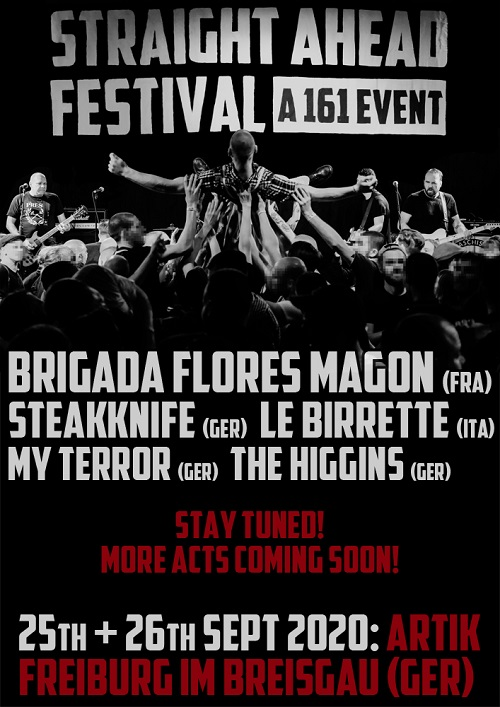 Straight Ahead Festival. A 161 Event. 2020. Ankündigung 7 komprimiert