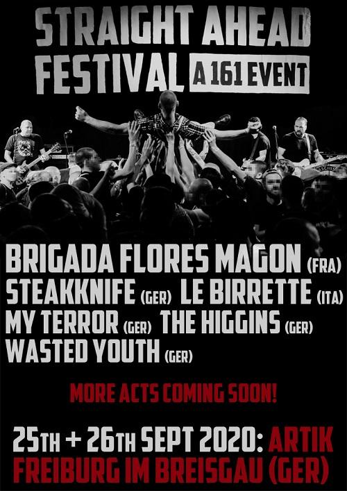 Straight Ahead Festival. A 161 Event. 2020. Ankündigung 8 komprimiert