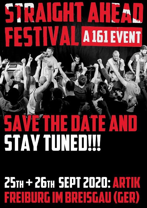 Straight Ahead Festival. A 161 Event. 2020. Ankündigung komprimiert